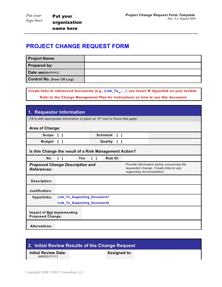 27 Images of Change Request Checklist Template | helmettown.com