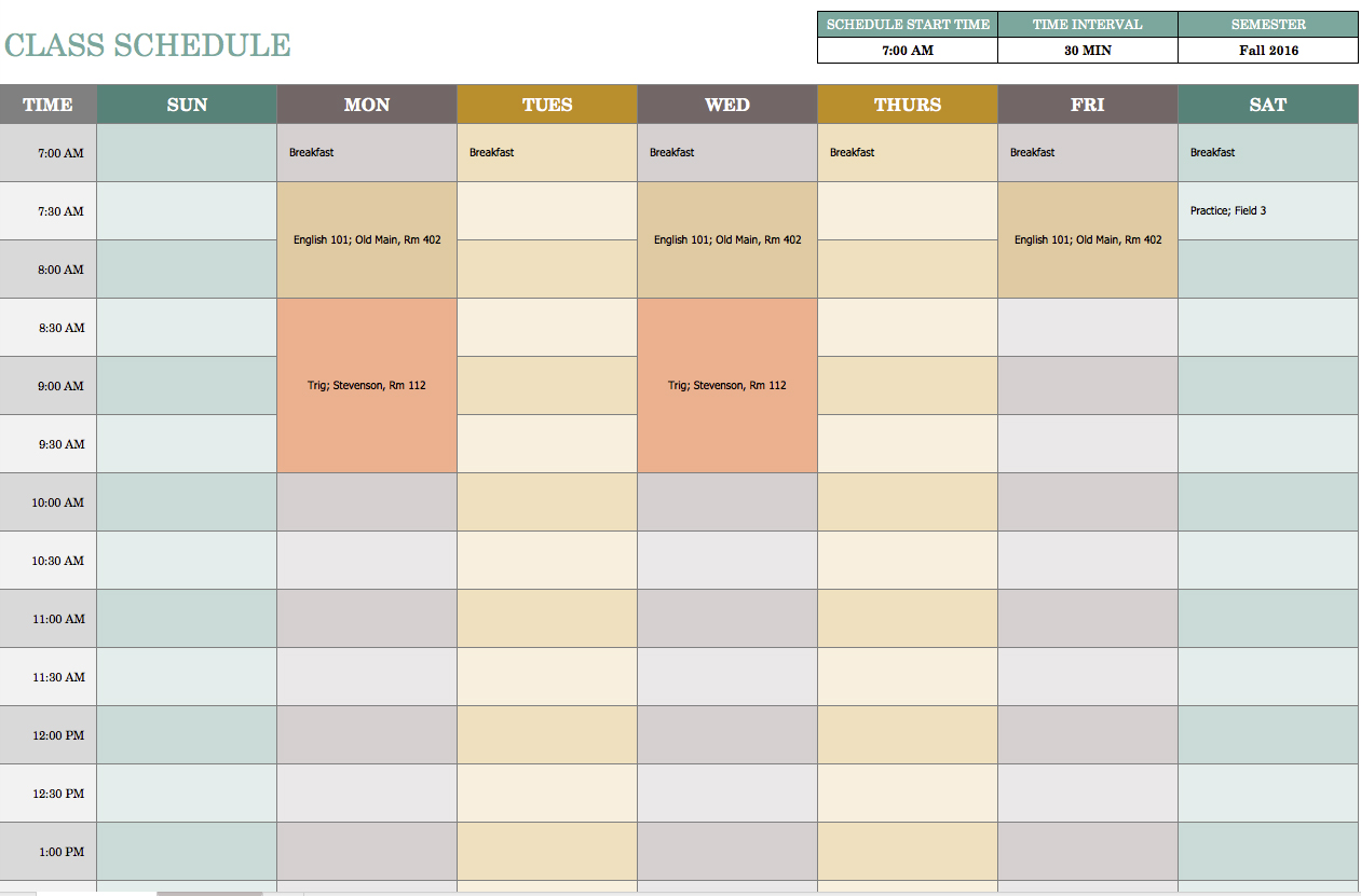 Class Agenda Template | Best And Professional Templates