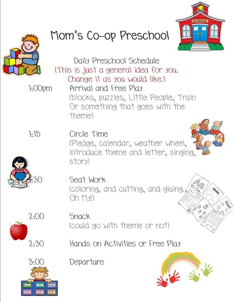 Preschool daily schedule | Daycare Lessons | Pinterest | Schedule