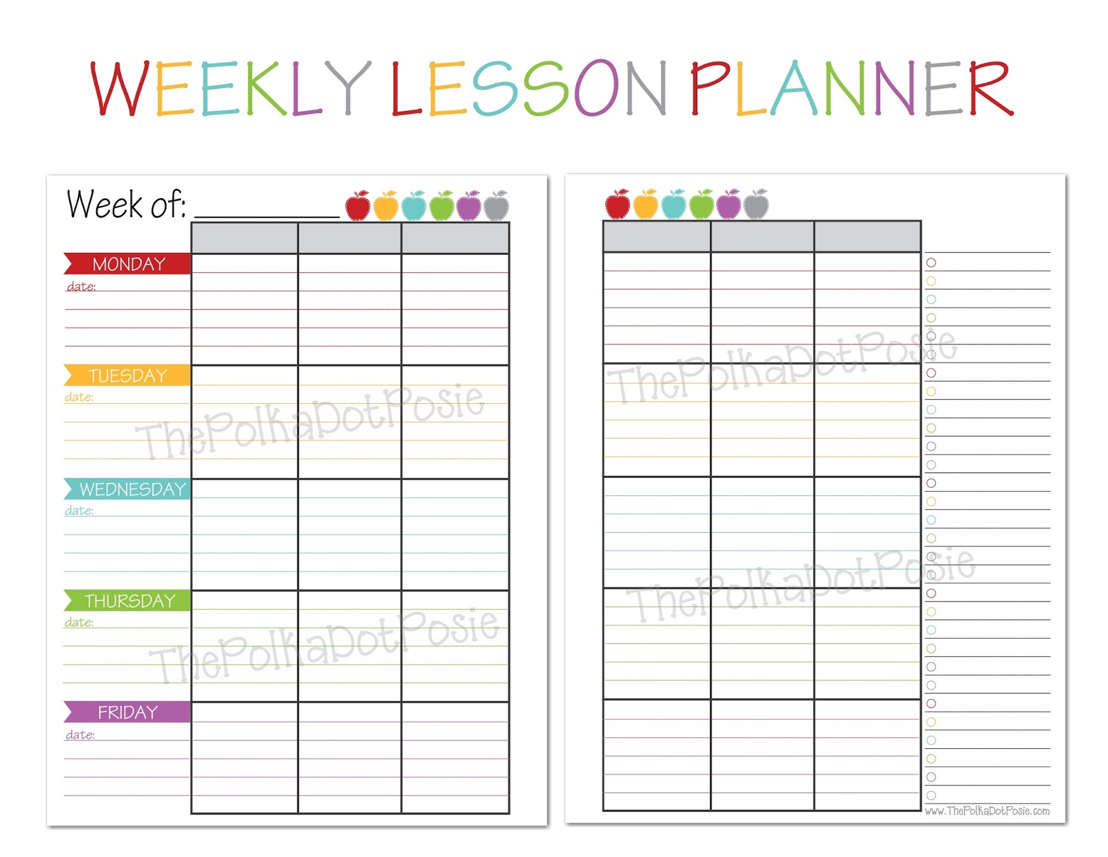 weekly teacher planner Londa.britishcollege.co
