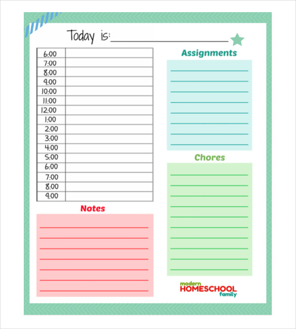 Daily Planner Template 28+ Free Word, Excel, PDF Document | Free
