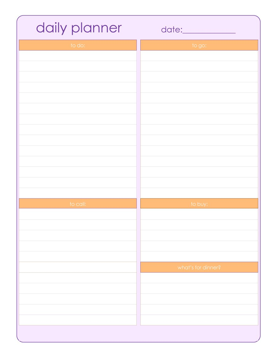 40+ Printable Daily Planner Templates (FREE) Template Lab