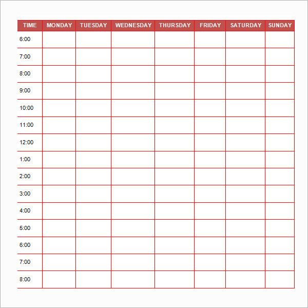 life schedule template Londa.britishcollege.co