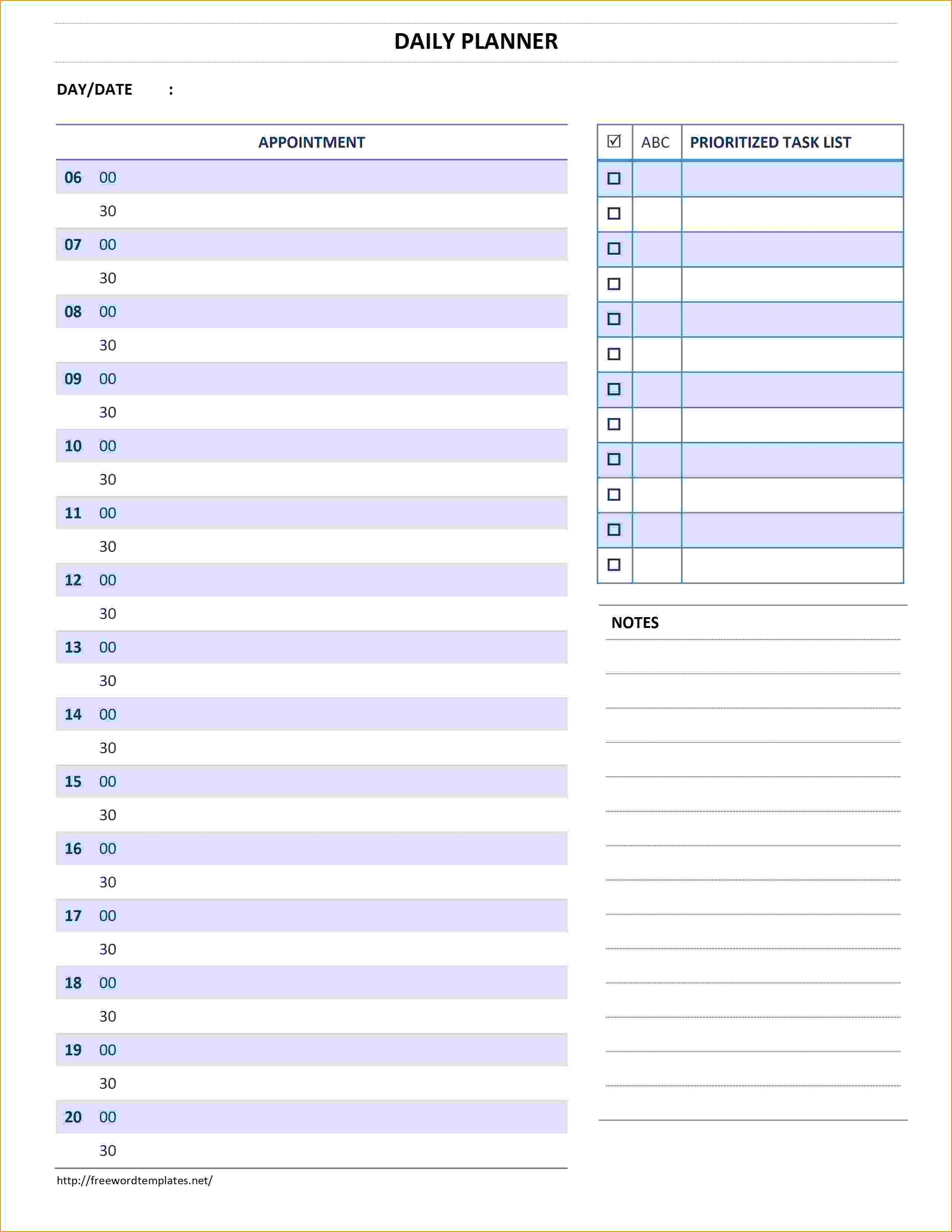 5+ daily planner template word | teknoswitch