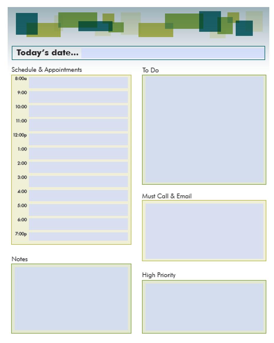 School Daily Schedule 21.