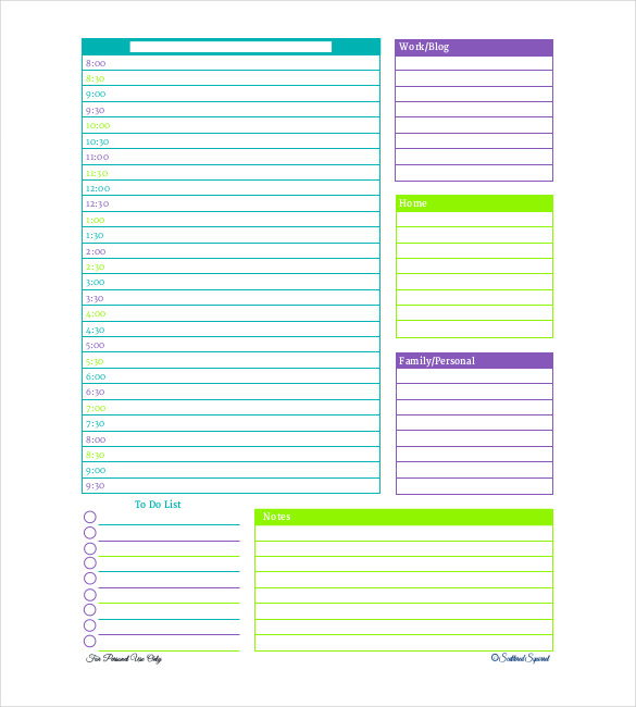 planner templates daily planner template 28 free word excel pdf