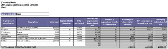 Depreciation Schedule Template – 9+ Free Word, Excel, PDF Format