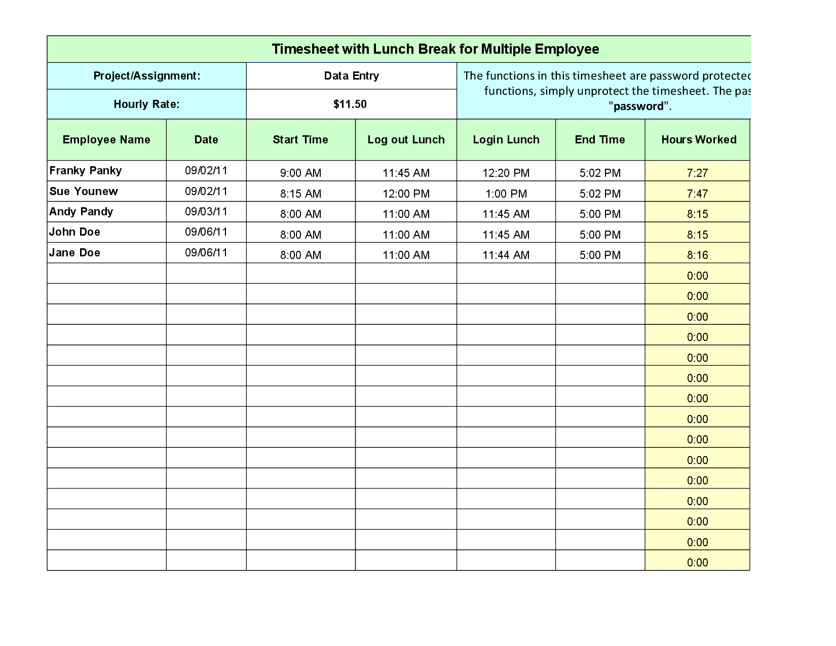 employee lunch schedule template  u2013 printable schedule template