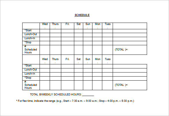 Employee Lunch Schedule Template Templates : Resume Examples