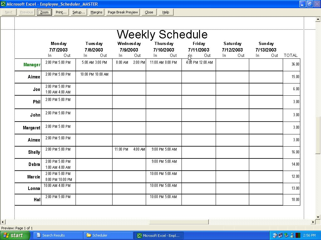 free scheduling template Londa.britishcollege.co