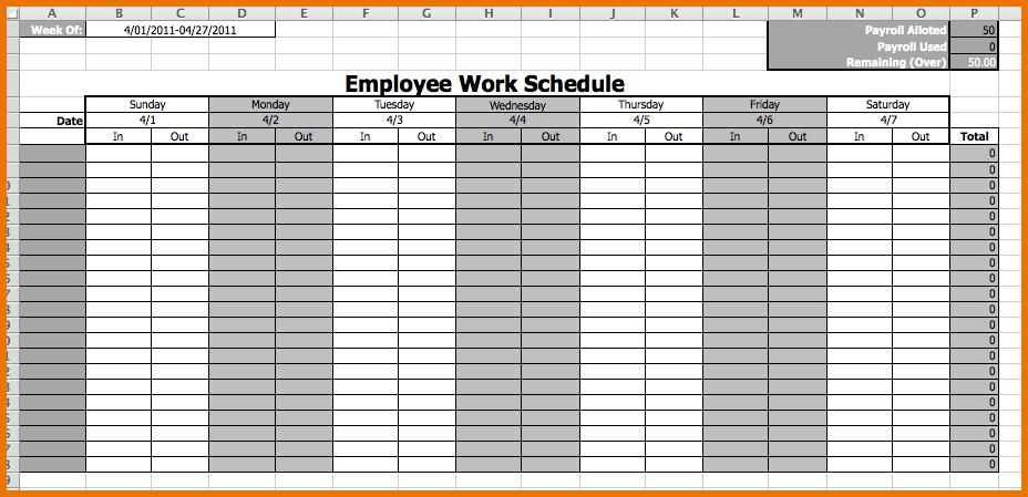 employee monthly schedule Londa.britishcollege.co