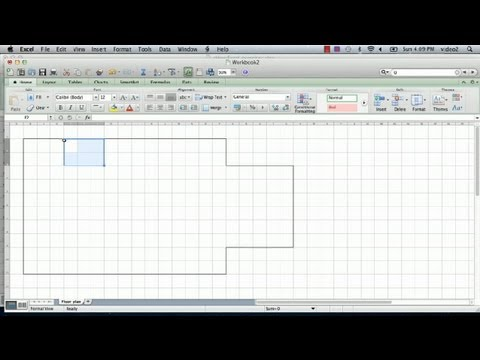 How to Make a Floorplan in Excel : Microsoft Excel Tips YouTube