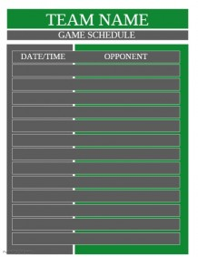 Customizable Design Templates for Game Schedule | PosterMyWall