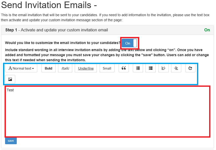 How to Invite a Candidate using an email template Interviewer
