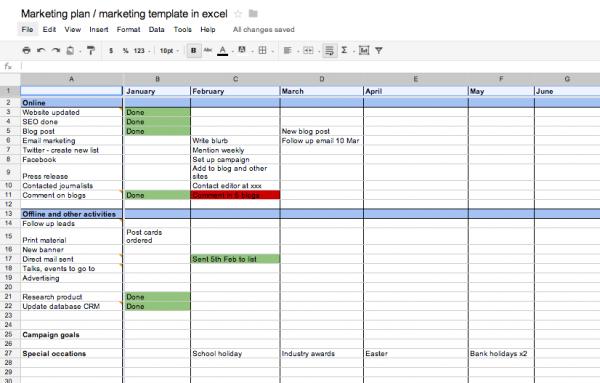 marketing planner excel Londa.britishcollege.co