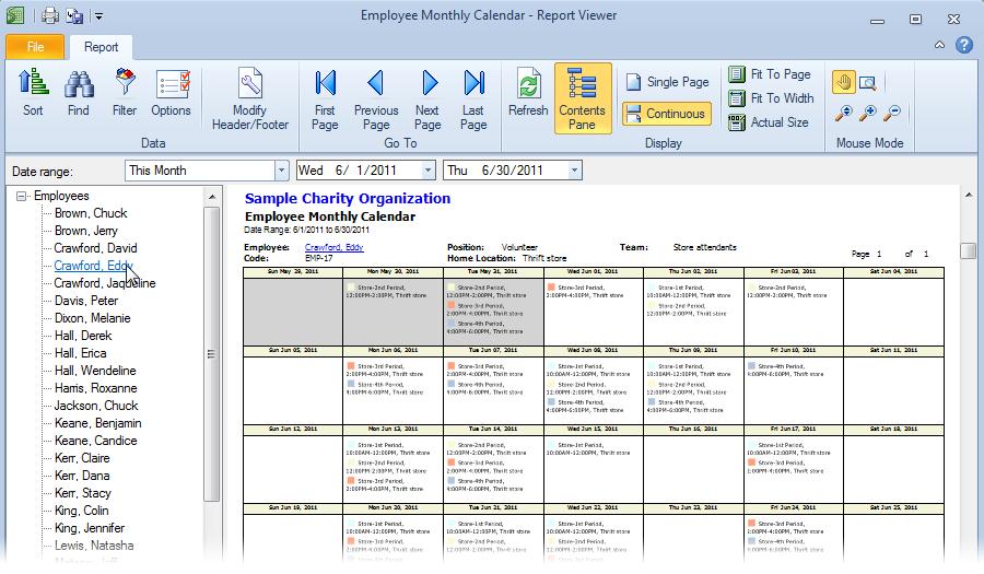 job scheduling calendar