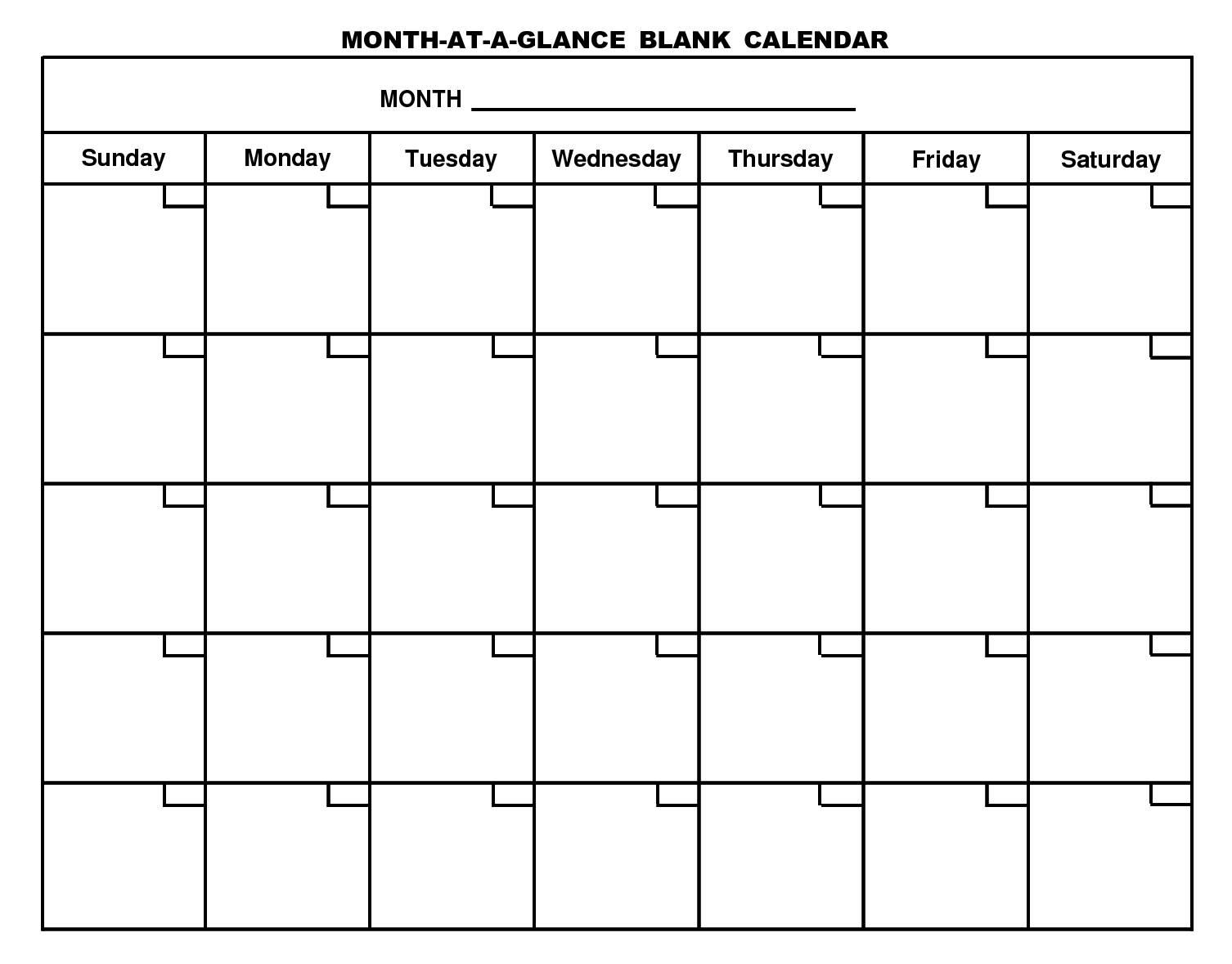 Monthly Calendar Template   monthly calendar 2017
