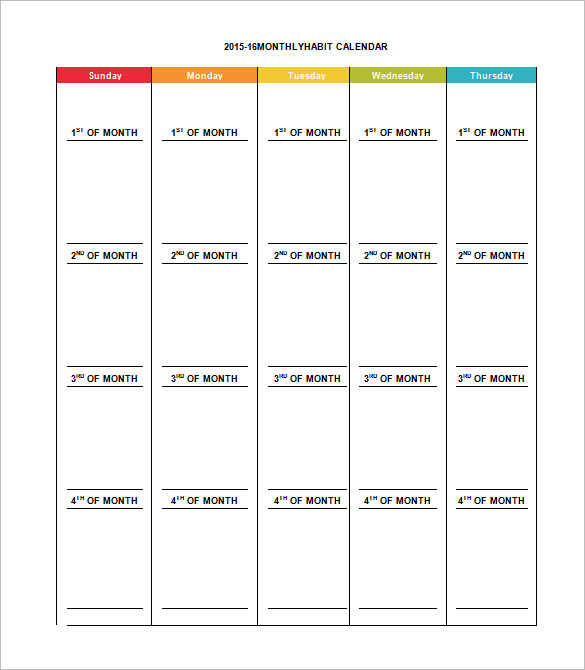 Monthly Schedule Template 13+ Free Excel, PDF Documents Download