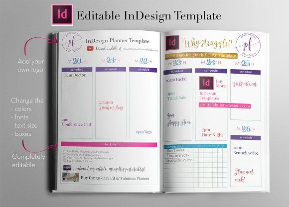 InDesign Planner Templates | Student centered resources, Planners