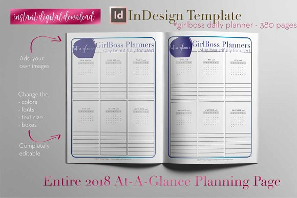 Daily Planner | InDesign Template ~ Stationery Templates