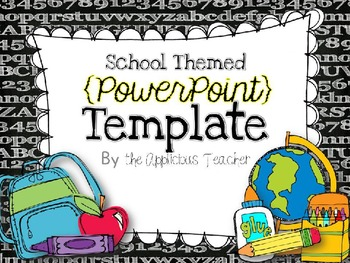Back to School PowerPoint Template by The Applicious Teacher | TpT