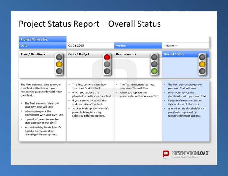 weekly report template ppt powerpoint update template project