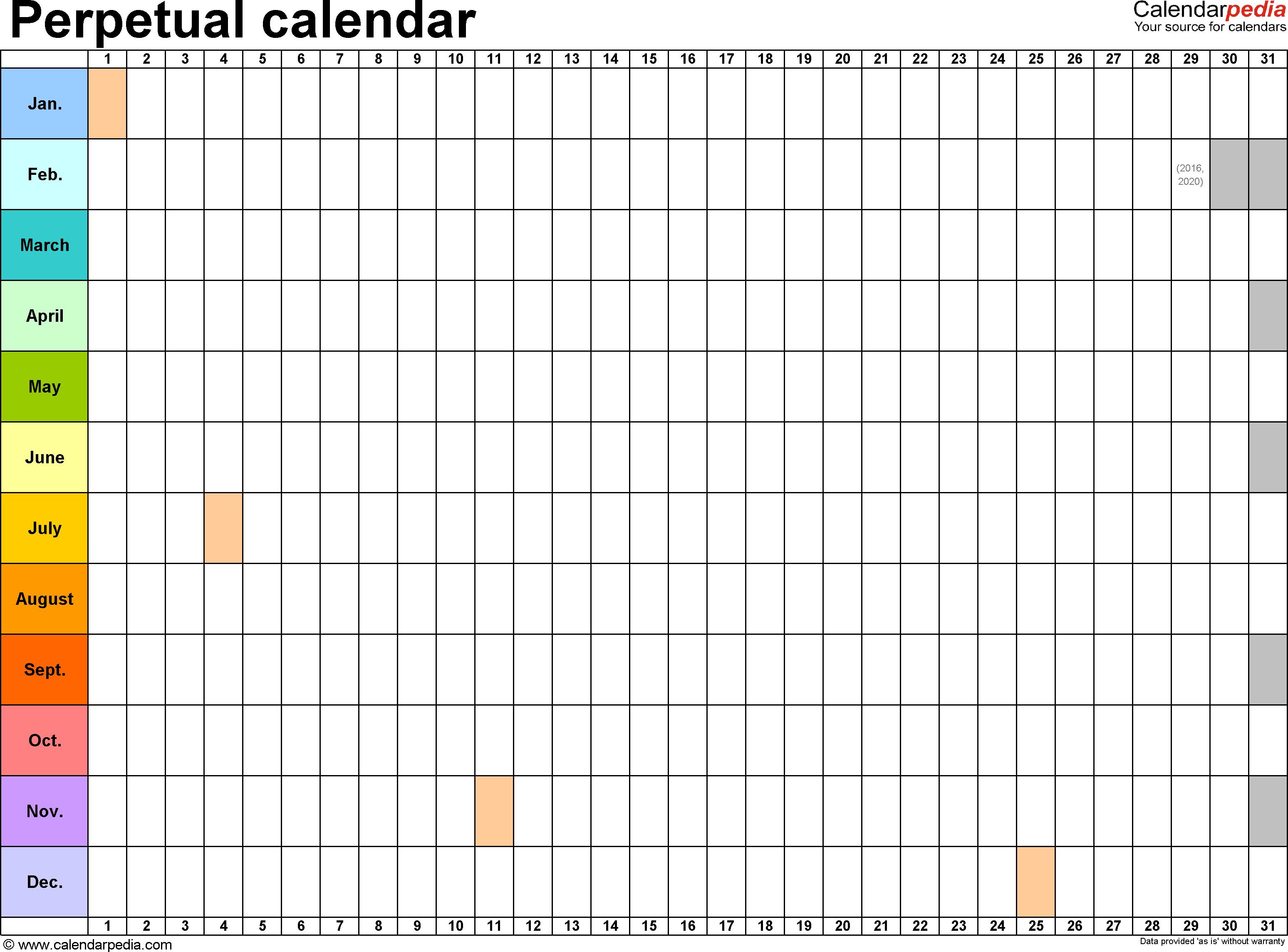Quarter Plan Calendar | Free Quarter Plan Calendar Templates