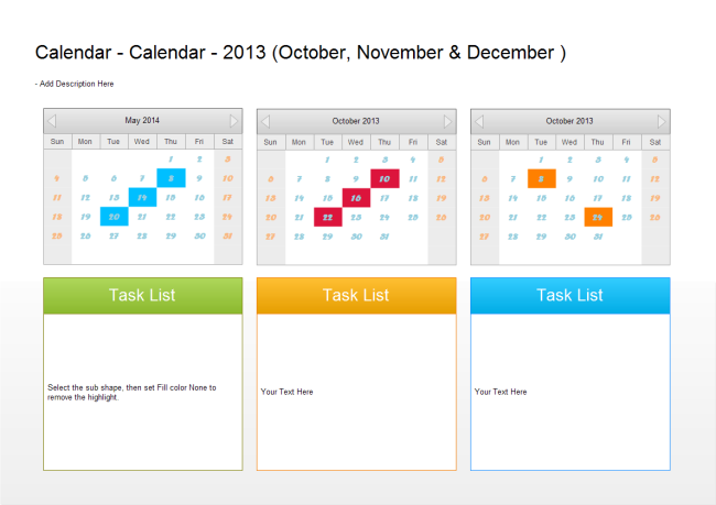 Quarterly Planner Template Blue Layouts