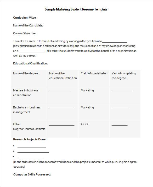 Student Resu Nice College Student Resume Template Microsoft Word
