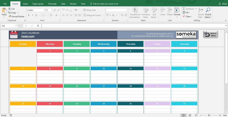 Schedule Templates in Excel Format