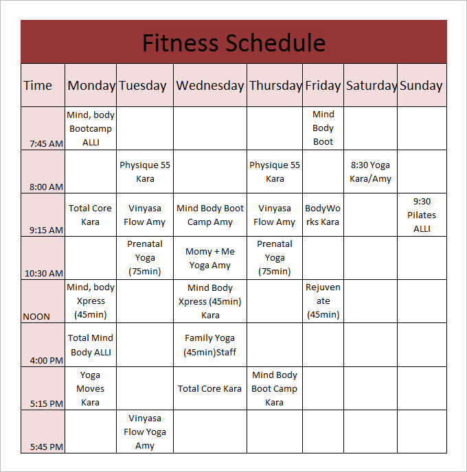 schedule chart template Londa.britishcollege.co