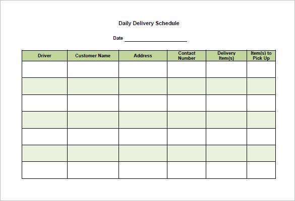 sample schedule template Londa.britishcollege.co