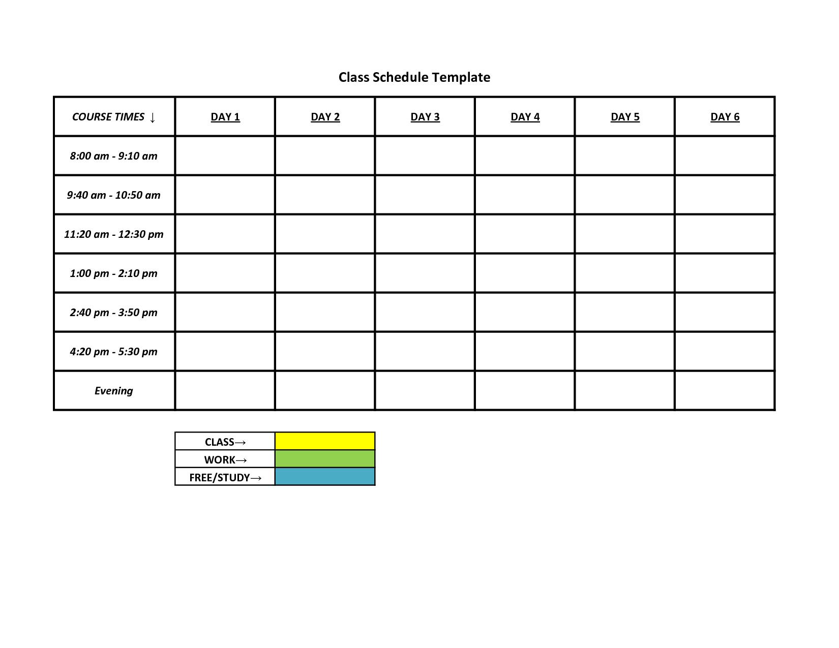schedule format template Londa.britishcollege.co