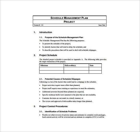 Project management plan template smart snapshoot schedule – cruzrich