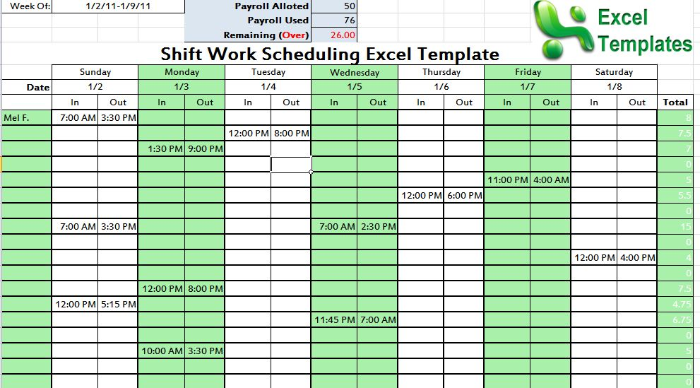 excel for scheduling Londa.britishcollege.co