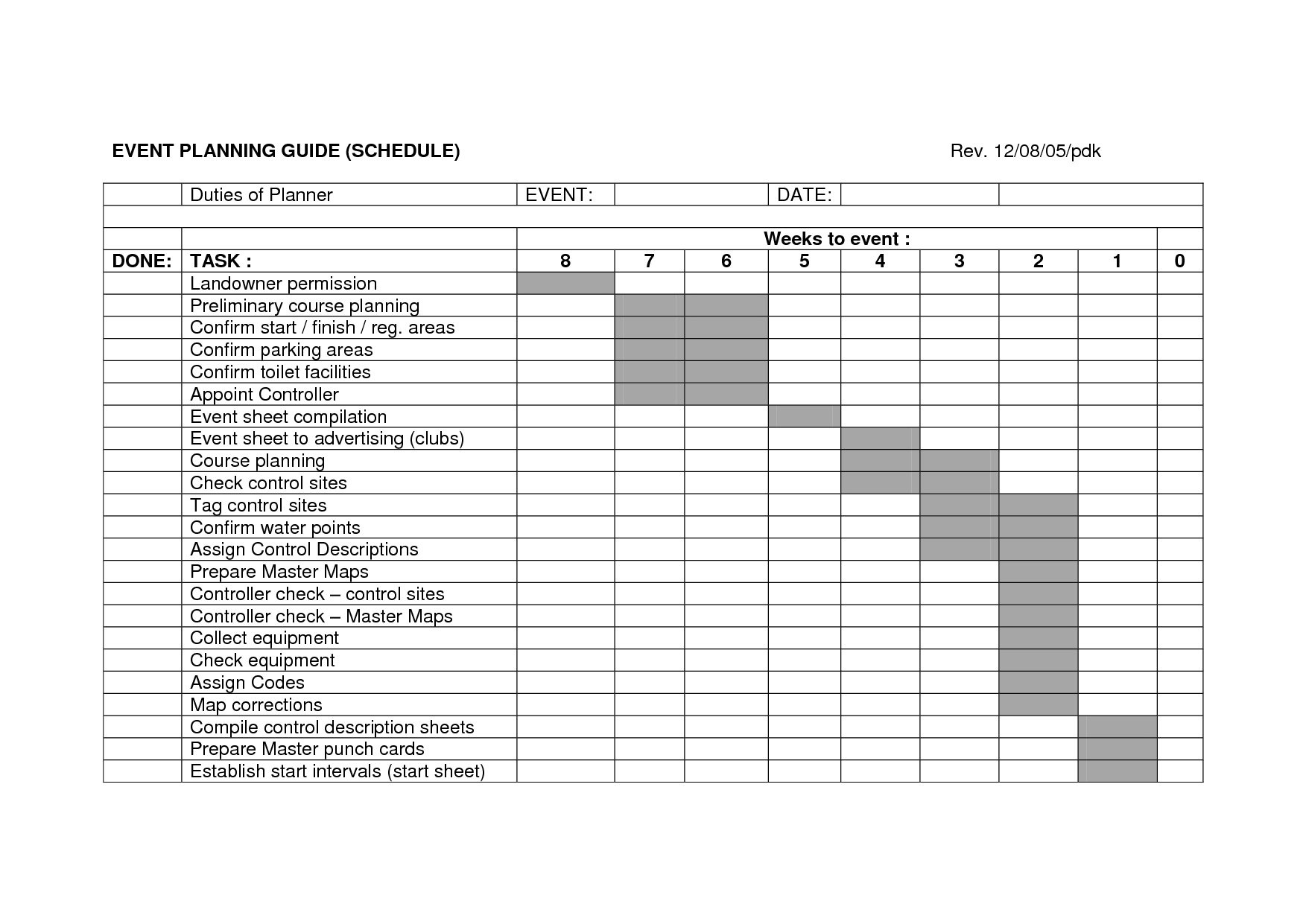 FTU Schedule template. (Found free on the . I do not own this