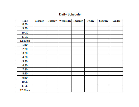 daily time table Londa.britishcollege.co