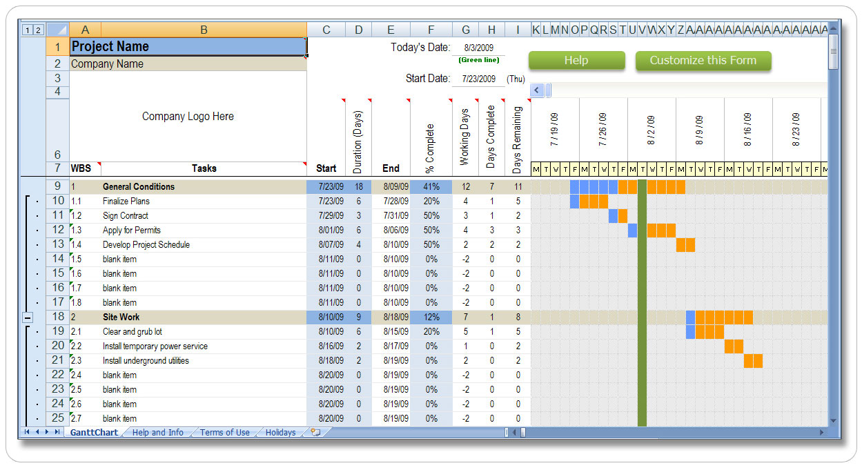 Production Report Template Project Plan Template Excel Shooting