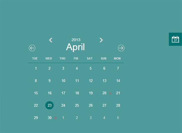 26+ HTML Calendar Templates – Free HTML, PSD, CSS Format Download