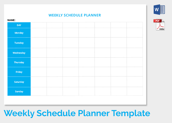 microsoft schedule templates ms excel weekly college tasks