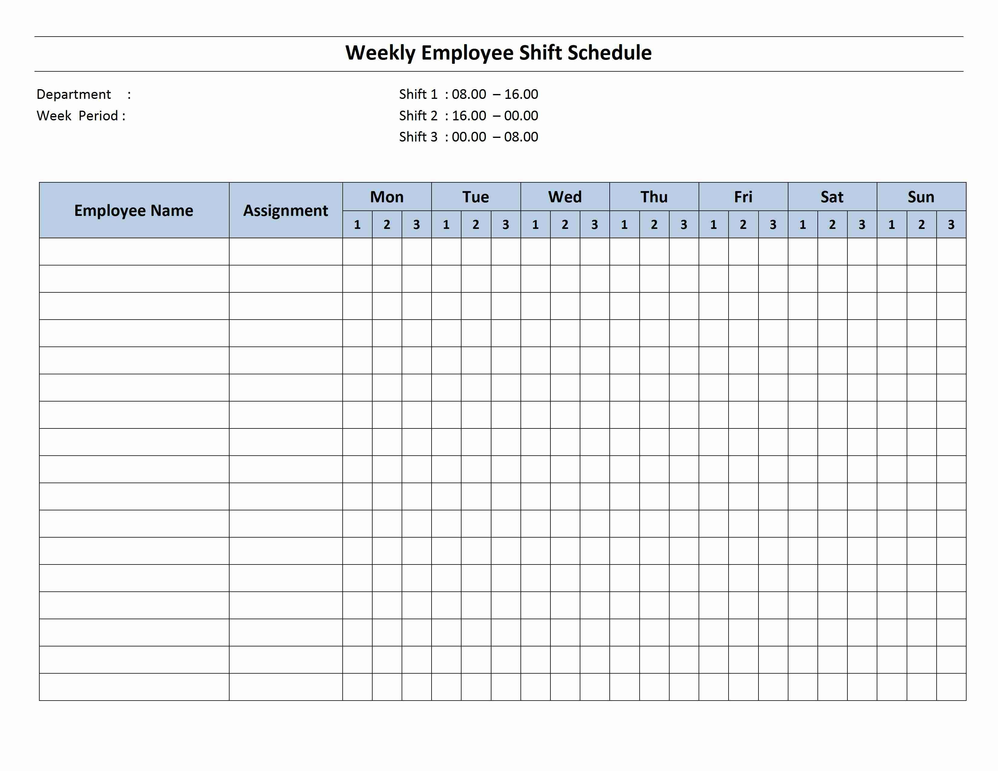 Monthly employee schedule template easy concept monthlsc 2 7 14