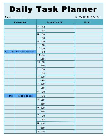 Free Task List Templates