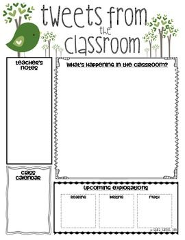 Template For Classroom Newsletter Printable Schedule Template