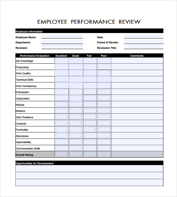 29 Images of Employee Performance Review Template | helmettown.com