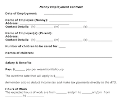 20 Things That Should Be In Your Written Nanny / Employer Work