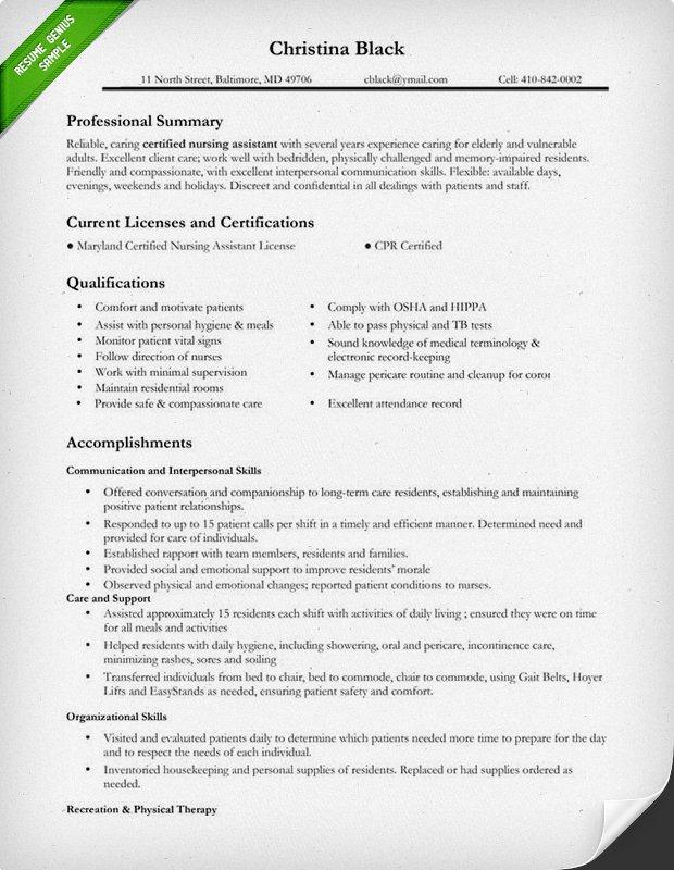 Nursing Resume Template