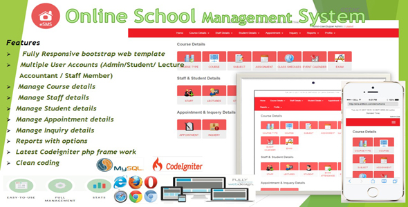 eSMS Online School Management System by qcasoft | CodeCanyon