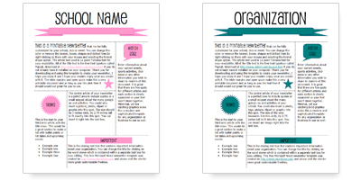 WordDraw. School Newsletter Template for Microsoft Word
