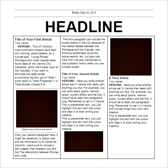 School Newspaper Templates – 11+ Free EPS Documents Download