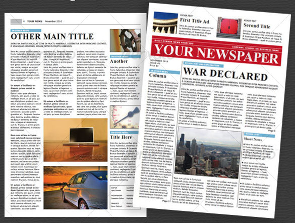 Wonderful Free Templates to Create Newspapers for your Class